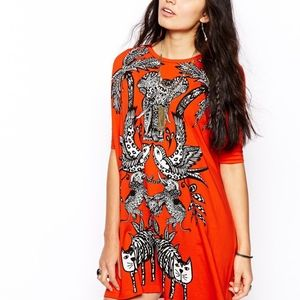 Asos t-shirt dress in Jungle print size 4-